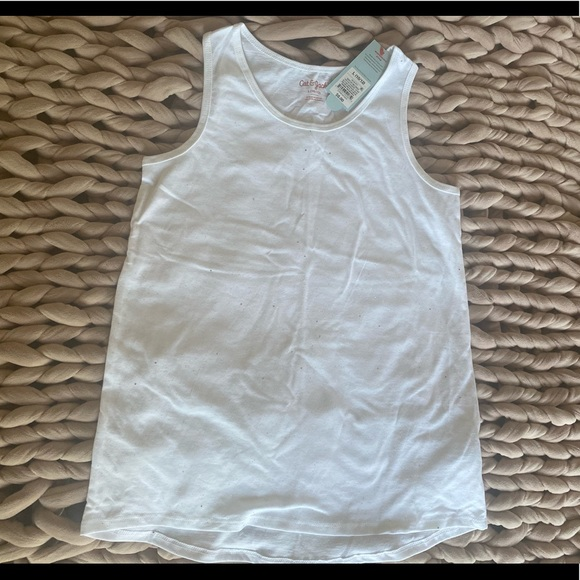 Girls Cotton Tank with Sparkles Size Large